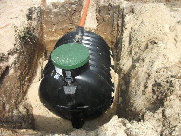 Zbiornik oczyszczalni drenażowej