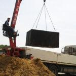 Posadowienie zbiornika betonowego
