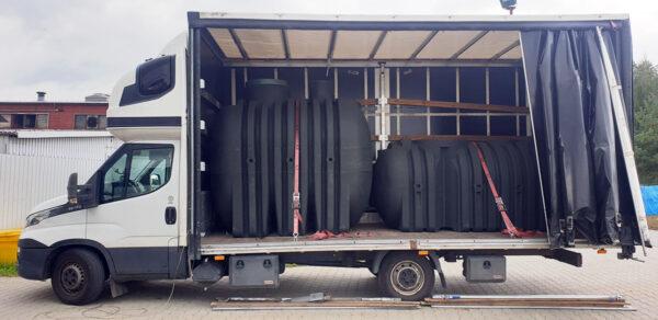 Transport zbiorników 3000 i 5000L