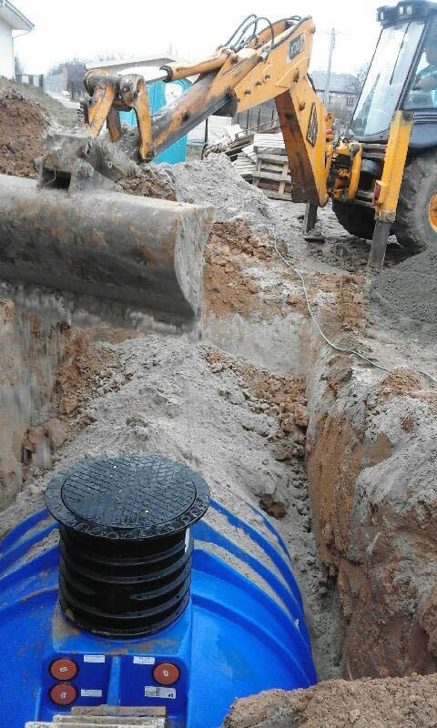 Posadowienie zbiornika na deszczówkę